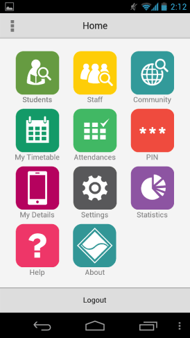 Synmobile on an Android operating system